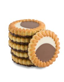 Biscuits With Chocolate Stock Photography