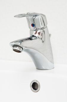 Modern Chrome Faucet Stock Image
