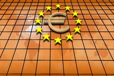 Free Stars And Euro Symbol Stock Images - 13714394
