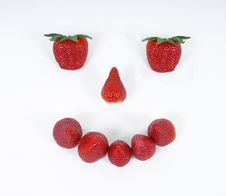 Free Smiley Face Of Strawberries Royalty Free Stock Image - 13714586