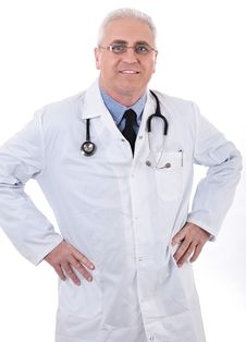 Free Smiling Medical Doctor With Stethoscope Royalty Free Stock Photos - 13715318