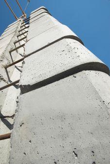 Big Crane S Heavy Concrete Counterweight Stock Images