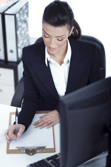 Free Portrait Of Young Business Woman Working Stock Photo - 13715510