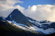 North Cascade Mountain Range Stock Photo