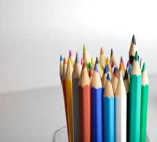 Free Colorful Pencils Royalty Free Stock Photos - 13716908