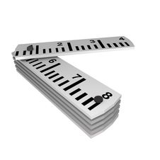 Free Inch Ruler, 3d Stock Photo - 13717020