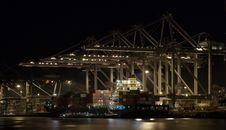 Free Container-terminal At Night Stock Photography - 13717422