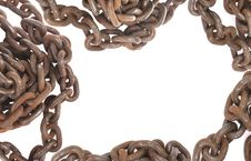 Free Old Rusty Chain Frame Royalty Free Stock Image - 13717886