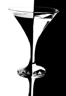 Free Tall Wine Glass For A Martini Royalty Free Stock Photo - 13718165