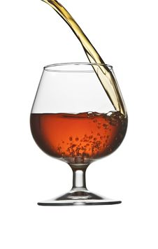 Free Pouring Cognac Royalty Free Stock Images - 13718229