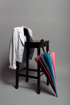Black Chair And Umbrella