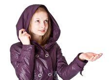 Free Girl In Raincoat In The Rain Stock Photography - 13718412