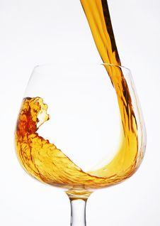 Free Pour A Glass Of Cognac Stock Images - 13718434