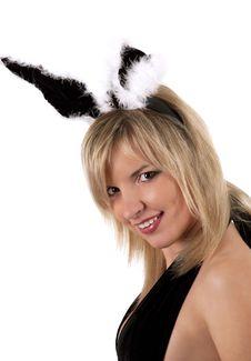 Free Pretty Bunny Girl Royalty Free Stock Photography - 13718457