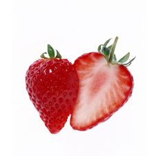 Free Strawberries Cut In Half Stock Images - 13718524