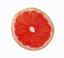 Free Half Of Juicy Red Grapefruit Stock Images - 13718584