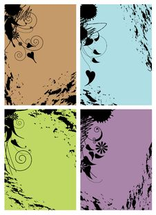 Free Color Shabby Frames Stock Photos - 13718713