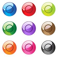Round Pearl Aqua Buttons Royalty Free Stock Photography