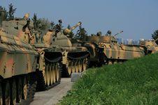 Free Soviet Tank Line Stock Photo - 13719160