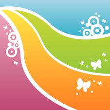 Free Colorful Butterfly Background Stock Images - 13719724
