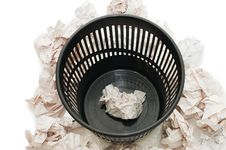 Free Basket For Garbage Stock Photography - 13719732