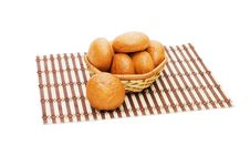 Free Rolls In A Wattled Basket Stock Photos - 13719793
