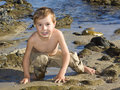 Free Boy At The Beach Royalty Free Stock Photos - 13727688