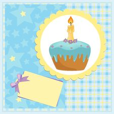 Free Baby S Greetings Card For Birthday Royalty Free Stock Photo - 13721445