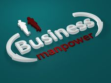Free Business - Manpower - Letters Stock Images - 13721454