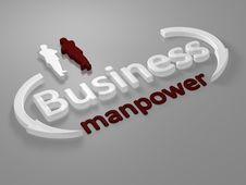 Free Business - Manpower - Letters Royalty Free Stock Photography - 13721457
