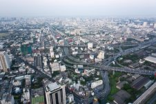Free View From The Bayoke Sky Hotel On Bangkok Royalty Free Stock Photo - 13721515