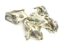 Free Crumpled Dollars Royalty Free Stock Images - 13721629