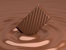 Free Chocolate 3d Render Stock Photos - 13721643