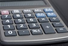 Close-up Of Pocket Calculator Royalty Free Stock Images