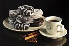 Coffee And Donuts Royalty Free Stock Photography