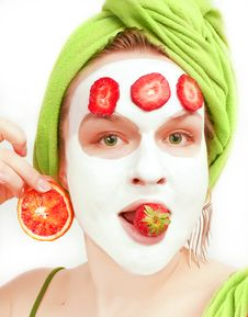 Free Young Women With Face Mask Royalty Free Stock Photos - 13723548