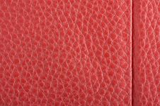 Free Fawn Leather With Red Stitching. Royalty Free Stock Images - 13723799