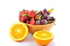 Free Basket Of Fruits Royalty Free Stock Image - 13723856