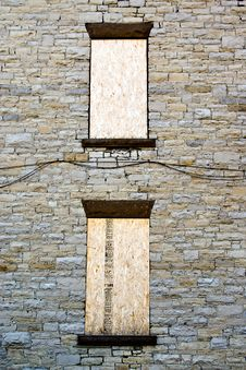 Boarded Windows Background Royalty Free Stock Images