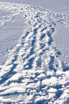 Free Snow Traces Stock Photography - 13724532