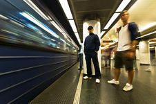 Free Subway Motion Blur Royalty Free Stock Photo - 13724895