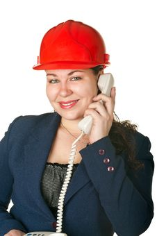 Young Woman An Architect Royalty Free Stock Photo