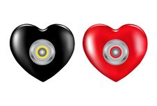 Free Safety Hearts With Combination. Vector Royalty Free Stock Photos - 13725478