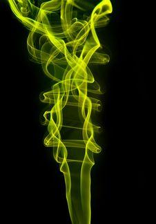 Beautiful Green Smoke Stock Images
