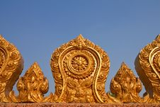 Free Native Thai Style Molding Art Royalty Free Stock Photography - 13726617
