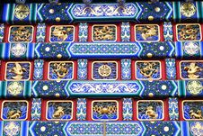 Detail Patterns Of The Decorated Archway Royalty Free Stock Images