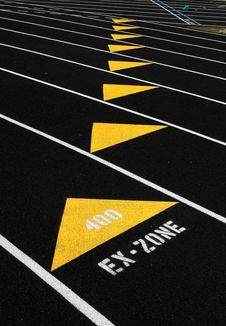 Free Track Lanes Ex-Zone Royalty Free Stock Photos - 13726808