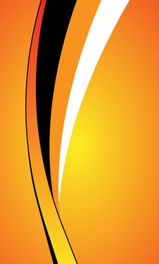 Free Abstract Orange Curve Background Royalty Free Stock Image - 13727536
