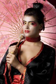 Free Young Geisha Looking At The Camera Stock Image - 13727711