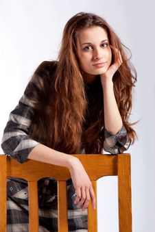 Free Young Girl Posing As A Model Royalty Free Stock Photo - 13728035